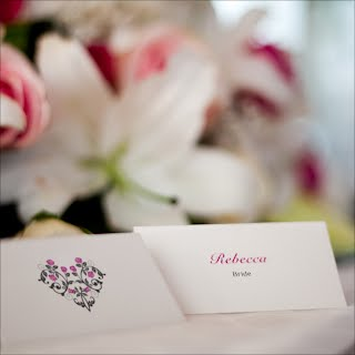 Rose Heart Placecards