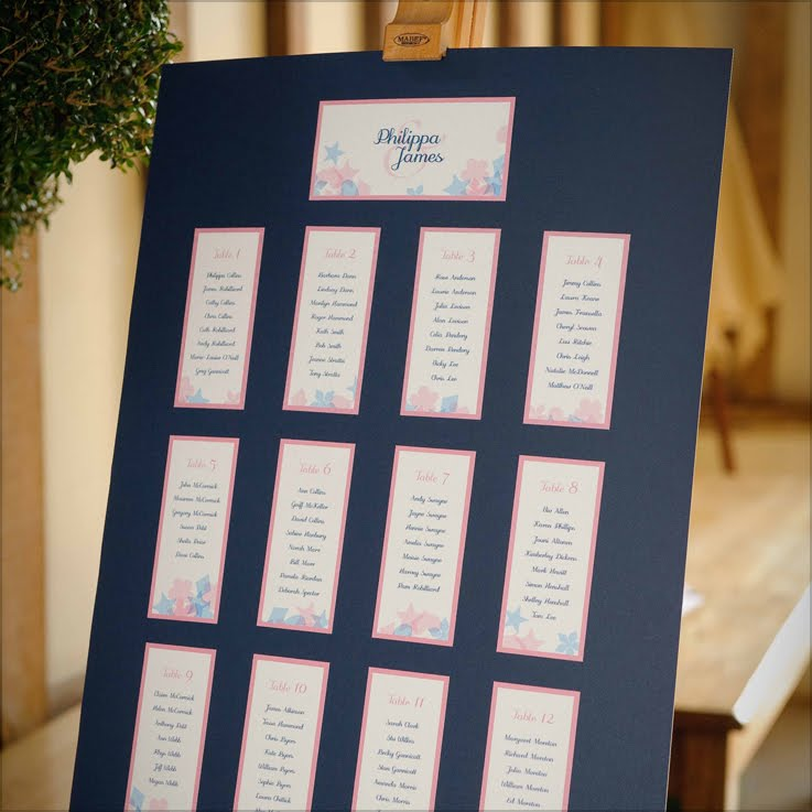 Confetti Table Plan